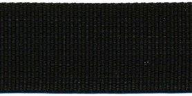 Tassenband 30 mm zwart STEVIG (50 m)