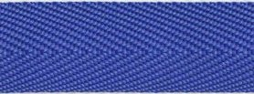 Kobalt blauw keperband 25 mm (ca. 45 m)
