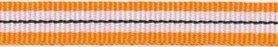 Oranje-wit-zwart streep grosgrain/ribsband 10 mm (ca. 25 m)
