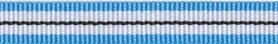 Blauw-wit-zwart streep grosgrain/ribsband (ca. 25 m)