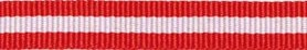 Rood-wit-rood streep grosgrain/ribsband 10 mm (ca. 25 m)