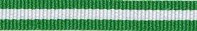 Groen-wit streep grosgrain/ribsband 10 mm (ca. 25 m)