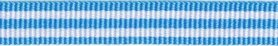 Blauw-wit streep grosgrain/ribsband 10 mm (ca. 25 m)