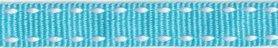 Licht blauw-wit stippel grosgrain/ribsband 10 mm (ca. 25 m)