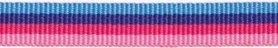 Licht blauw-donker blauw-donker roze-licht roze streep grosgrain/ribsband 10 mm (ca. 25 m)