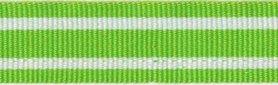 Gifgroen-wit streepband 19 mm (ca. 45 m)