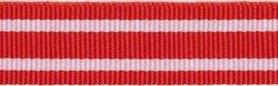 Rood-wit streepband 19 mm (ca. 45 m)