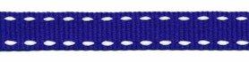 Kobalt blauw-wit stippel grosgrain/ribsband 10 mm (ca. 25 m)