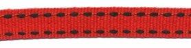 Rood-zwart stippel grosgrain/ribsband 10 mm (ca. 25 m)