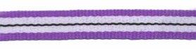 Paars-wit-zwart streep grosgrain/ribsband 10 mm (ca. 25 m)