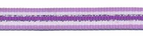 Lila-wit-zilver-paars streep grosgrain/ribsband 10 mm (ca. 45 m)