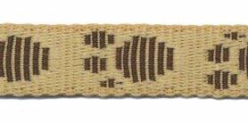 Tassenband 20 mm pootje beige/bruin (ca. 5 m)