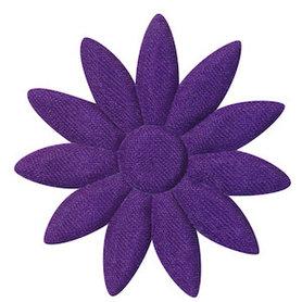 Applicatie bloem paars met puntige blaadjes effen satijn groot 48 mm (ca. 100 stuks)