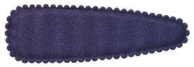 Haarkniphoesje donker blauw satijn effen 8 cm (ca. 100 stuks)