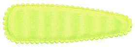 Haarkniphoesje NEON geel satijn effen 8 cm (ca. 100 stuks)