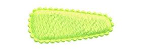 Haarkniphoesje NEON geel satijn effen 3 cm (ca. 100 stuks)