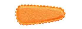 Haarkniphoesje NEON oranje satijn effen 3 cm (ca. 100 stuks)