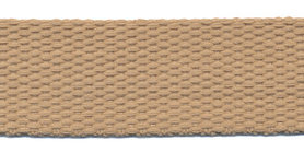 Tassenband 25 mm zand/beige COTTON-LOOK (ca. 25 m)