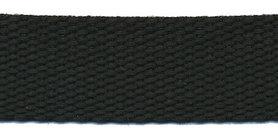 Tassenband 25 mm zwart COTTON-LOOK (ca. 25 m)