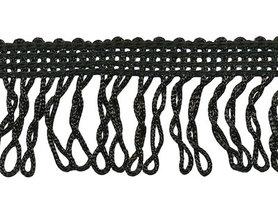 Franjeband gedraaid zwart ca. 32 mm (ca. 22 meter)