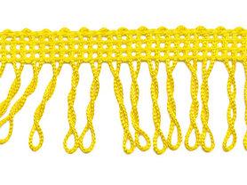 Franjeband gedraaid geel ca. 32 mm (ca. 22 meter)