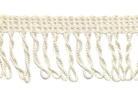 Franjeband gedraaid creme ca. 32 mm (ca. 22 meter)