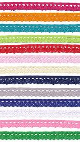 SET: 13 kleuren kant 11 mm (13 x 10 m = 130 m)