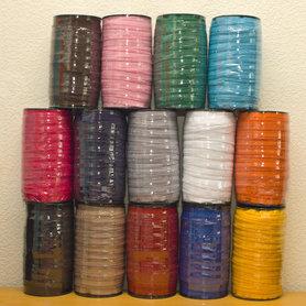 SET: 20 kleuren nylon rits maat 5 (20 x 50 m = 1.000 m)