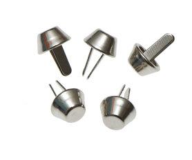 Metalen tasvoetjes zilverkleurig 10 mm (ca. 100 stuks)