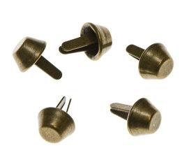 Metalen tasvoetjes bronskleurig 10 mm (ca. 100 stuks)