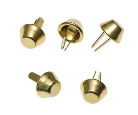 Metalen tasvoetjes goudkleurig 10 mm (ca. 100 stuks)
