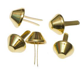 Metalen tasvoetjes goudkleurig 15 mm (ca. 100 stuks)