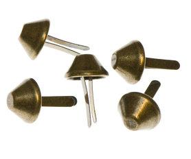 Metalen tasvoetjes bronskleurig 15 mm (ca. 100 stuks)