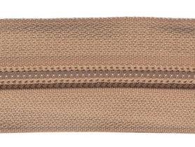 Nylon rits beige/zandkleurig #573 maat 5 (ca. 5 m)