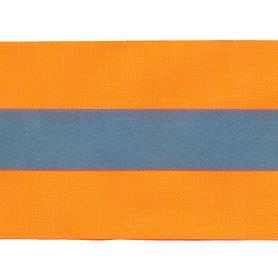 Fluoriserend oranje band met reflectiestreep 50 mm (ca. 10 meter)