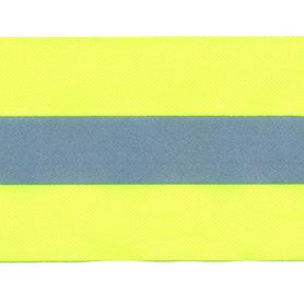 Fluoriserend geel band met reflectiestreep 50 mm (ca. 10 meter)