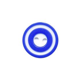 Knoop 'donut' klein kobalt blauw 15 mm (ca. 50 stuks)