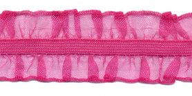 Fuchsia roezel elastiek 2-zijdig 25 mm (ca. 10 meter)