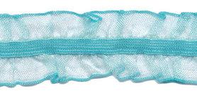 IJsblauw roezel elastiek 2-zijdig 25 mm (ca. 10 meter)
