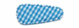 Haarknip met haarkniphoesje aqua-wit geruit 3 cm (ca. 100 stuks)