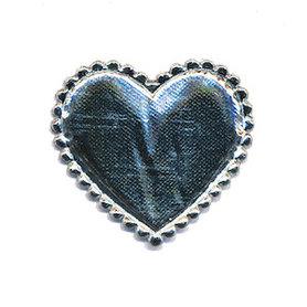 Applicatie hart zilver middel 35 x 30 mm (ca. 100 stuks)