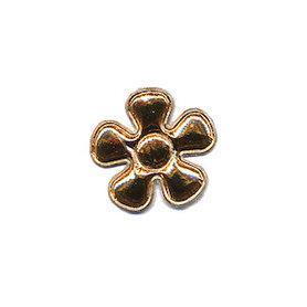 Applicatie bloem goud klein 20 mm (ca. 100 stuks)