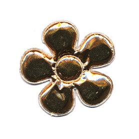 Applicatie glim bloem met ronde blaadjes goud middel 35 mm (ca. 100 stuks)