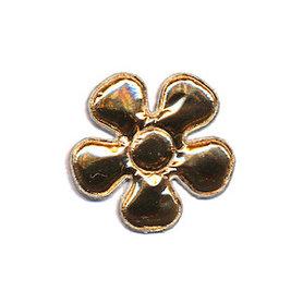 Applicatie bloem goud klein 27 mm (ca. 100 stuks)