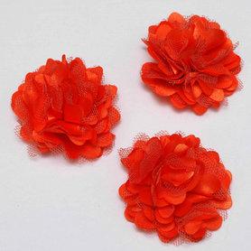 Bloem stof oranje ca. 5 cm (5 stuks)