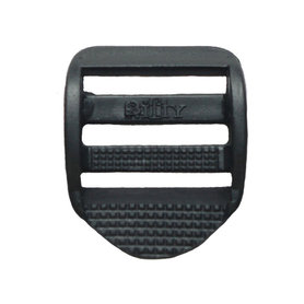 Laddergesp zwart kunststof 25 mm (10 stuks)