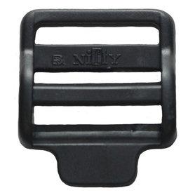 Laddergesp zwart kunststof 30 mm (10 stuks)