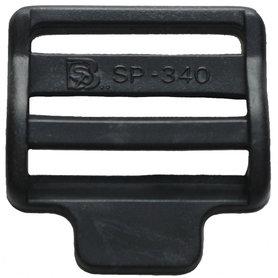 Laddergesp zwart kunststof 38 mm (10 stuks)
