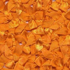 Satijnen strikjes oranje (ca. 100 stuks)