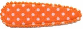 Haarkniphoesje oranje met witte stip / polkadot 5 cm (ca. 100 stuks)